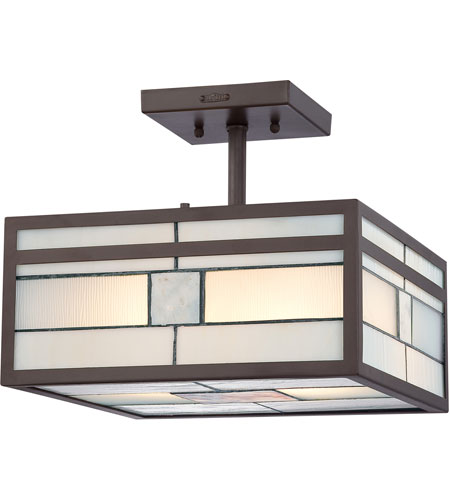 Quoizel Lighting Finley 2 Light Semi-Flush Mount in Western Bronze TFFN1712WT photo