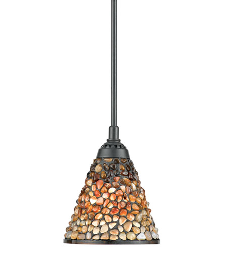 Quoizel Lighting Fossil Stone 1 Light Mini Pendant in Vintage Bronze TFFS1507VB photo