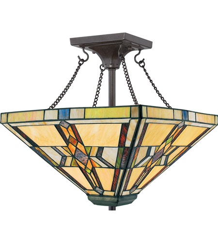Quoizel Lighting Finton 2 Light Semi-Flush Mount in Vintage Bronze TFFT1714VB photo