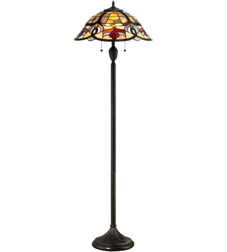 garland 62 inch 100 watt vintage bronze floor lamp portable light. Black Bedroom Furniture Sets. Home Design Ideas