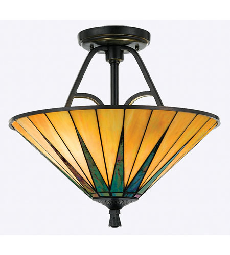 Quoizel Lighting Gotham 2 Light Semi-Flush Mount in Vintage Bronze TFGO1717VB photo