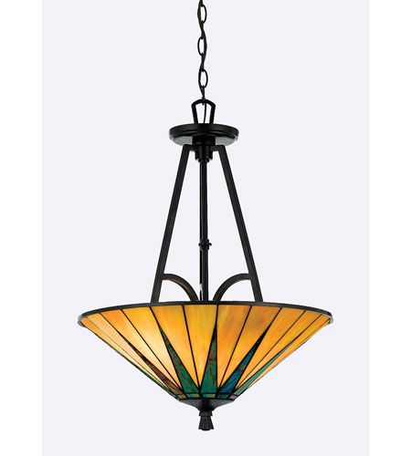 Quoizel Lighting Gotham 3 Light Pendant in Vintage Bronze TFGO2821VB photo
