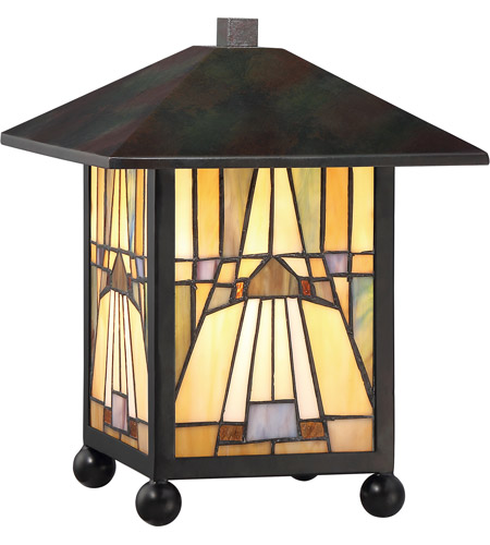 Merveilleux Quoizel TFIK6111VA Inglenook 11 Inch Valiant Bronze Table Lamp Portable  Light, Naturals
