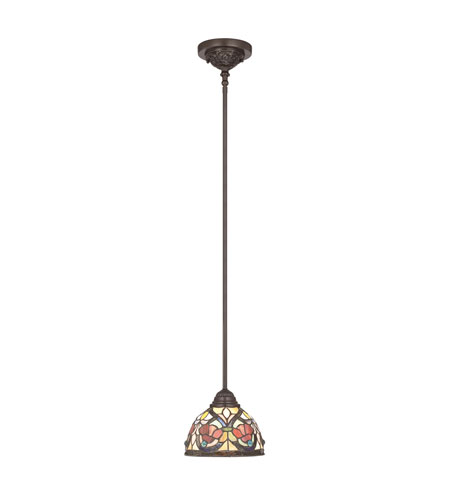 Quoizel Larissa 1 Light Mini Pendant in Vintage Bronze TFLR1508VB photo
