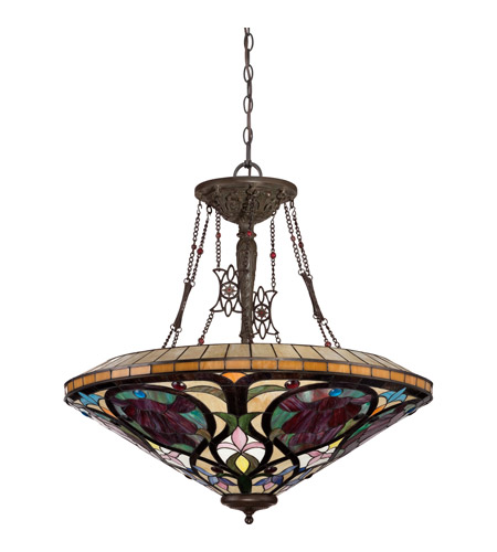 Quoizel Foyer Chandelier : Quoizel larissa light foyer pendant in vintage bronze