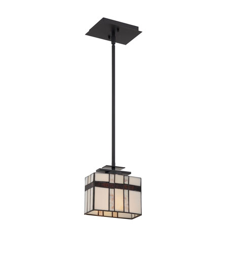 Quoizel Lighting Luxe 1 Light Mini Pendant in Mystic Black TFLU1508K photo