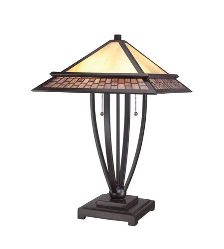 Quoizel Lighting Mason 2 Light Table Lamp In Vintage