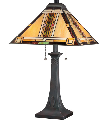 Quoizel TFNO6325VA Navajo 25 inch 75 watt Valiant Bronze Table Lamp Portable Light, Naturals photo