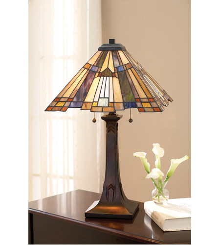 Quoizel Lighting Inglenook 2 Light Table Lamp in Valiant Bronze TFT16191A1VA photo
