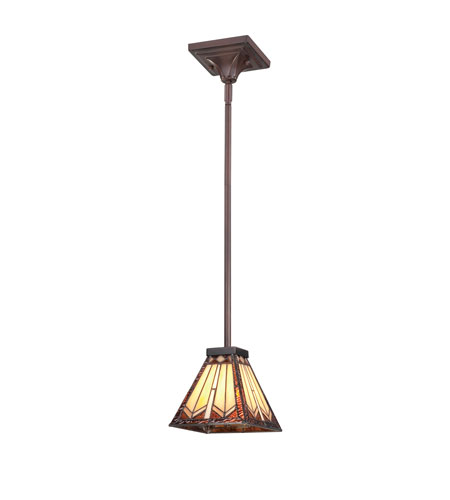 Quoizel Lighting Tanner 1 Light Mini Pendant in Russet TFTR1506RS photo