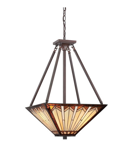 Quoizel Lighting Tanner 3 Light Pendant in Russet TFTR2816RS photo