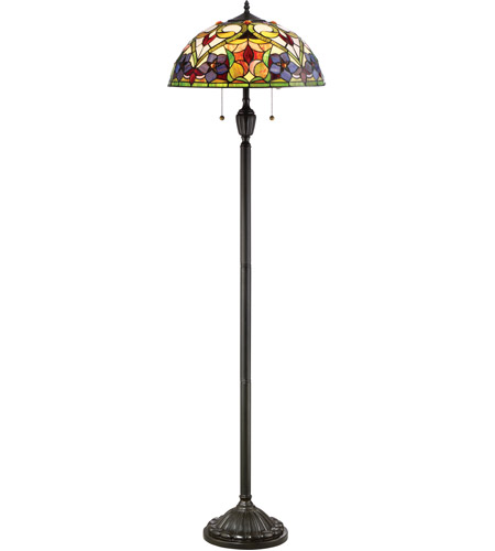 violets 62 inch 100 watt vintage bronze floor lamp portable light. Black Bedroom Furniture Sets. Home Design Ideas