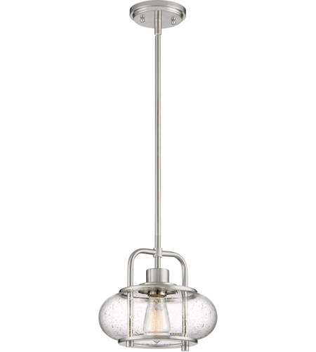 Quoizel trg1510bn trilogy 1 light 10 inch brushed nickel mini quoizel trg1510bn trilogy 1 light 10 inch brushed nickel mini pendant ceiling light aloadofball Gallery