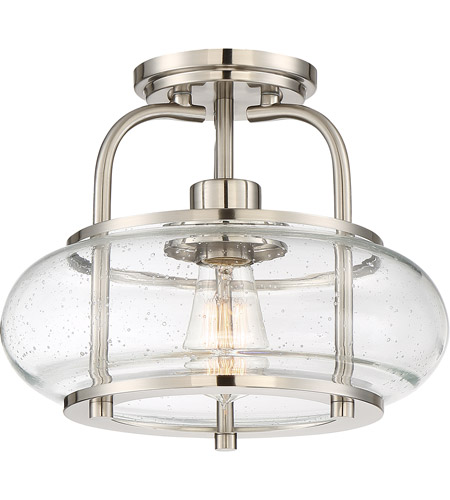quoizel trg1712bn trilogy 1 light 12 inch brushed nickel semi flush