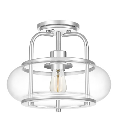 Quoizel TRG1712C Trilogy 1 Light 12 inch Polished Chrome Semi-Flush Mount Ceiling Light photo