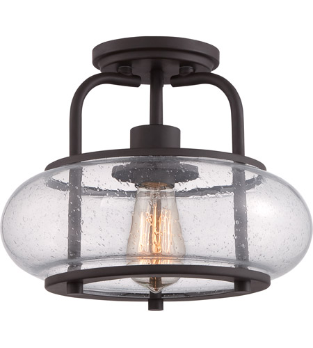 Quoizel TRG1712OZ Trilogy 1 Light 12 inch Old Bronze Semi-Flush Mount Ceiling Light photo
