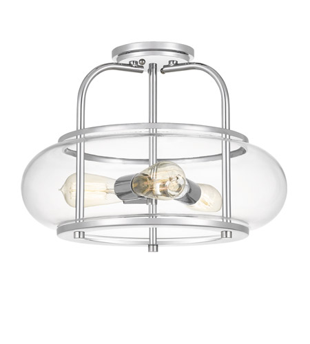 Quoizel TRG1716C Trilogy 3 Light 16 inch Polished Chrome Semi-Flush Mount Ceiling Light photo thumbnail