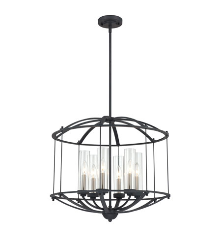 Quoizel Lighting Troy 6 Light Pendant in Royal Ebony TRY2824BA photo