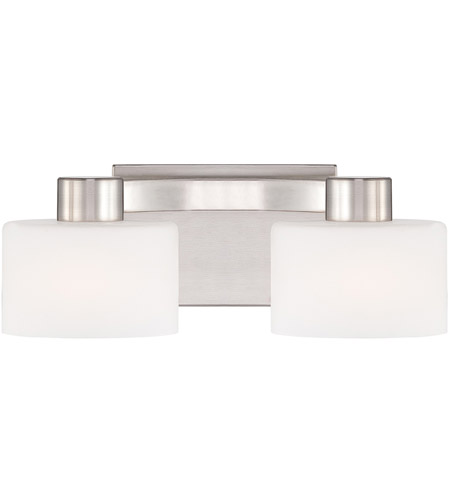 Quoizel Tatum 2 Light Bath Light in Brushed Nickel TU8602BN photo