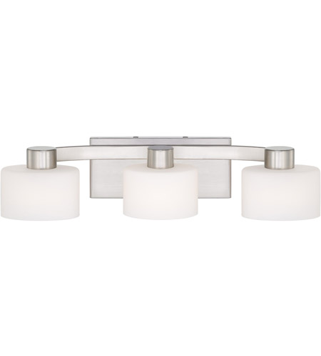 Quoizel TU8603BN Tatum 3 Light 21 inch Brushed Nickel Bath Light Wall Light in Frosted Halogen G9 photo
