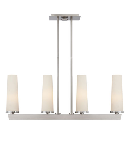 Quoizel Lighting Uptown Chelsea Loft 4 Light Island Light in Brushed Nickel UPCL438BN photo