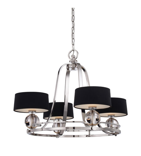 Quoizel Uptown Gotham 4 Light Chandelier in Imperial Silver UPGO5004IS photo