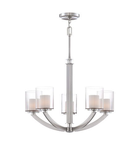 Quoizel Lighting Uptown Liberty 5 Light Chandelier in Brushed Nickel UPLB5005BN photo