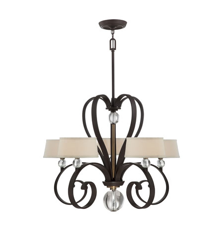 Quoizel Uptown Madison Manor 5 Light Chandelier in Western Bronze UPMM5005WT photo