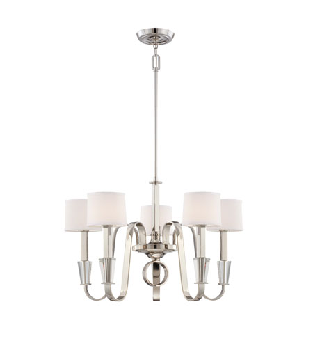 Quoizel Lighting Uptown Park Avenue Penthouse 5 Light Chandelier in Imperial Silver UPPA5005IS photo