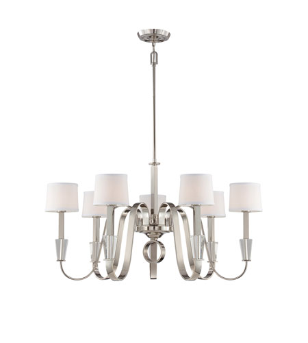 Quoizel Lighting Uptown Park Avenue Penthouse 7 Light Chandelier in Imperial Silver UPPA5007IS photo