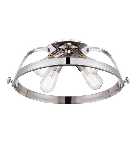 Quoizel Lighting Uptown Theater Row 4 Light Semi-Flush Mount in Imperial Silver UPTR1716IS photo