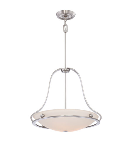 Quoizel Lighting Uptown Wall Street 4 Light Pendant in Brushed Nickel UPWS2822BN photo