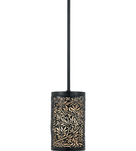 Quoizel Lighting Utopia 1 Light Mini Pendant in Mystic Black UT1506K photo