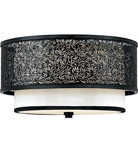 Quoizel Lighting Utopia 2 Light Flush Mount in Mystic Black UT1615K photo