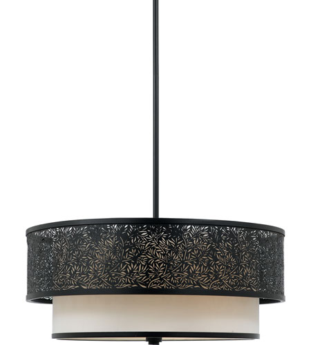 Quoizel Lighting Utopia 3 Light Pendant in Mystic Black UT2820K photo