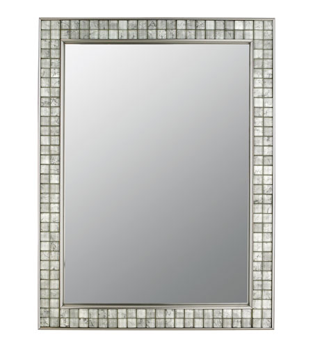 Quoizel vtcl43224bn vetreo clouds 32 x 25 inch brushed nickel wall mirror for Bathroom mirrors brushed nickel