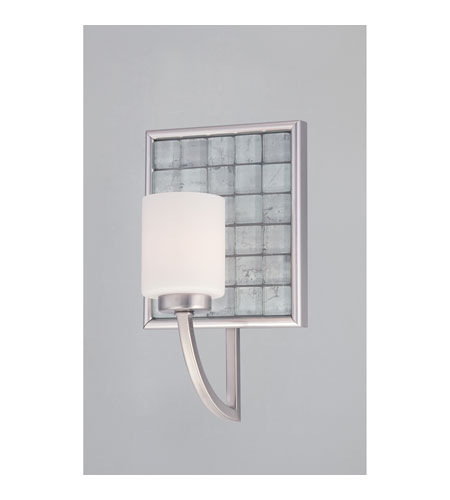 Quoizel Lighting Vetreo Clouds 1 Light Bath Light in Brushed Nickel VTCL8601BN photo