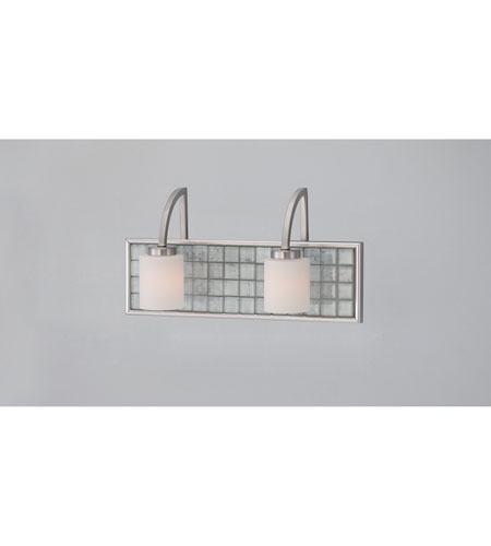 Quoizel Lighting Vetreo Clouds 2 Light Bath Light in Brushed Nickel VTCL8602BN photo