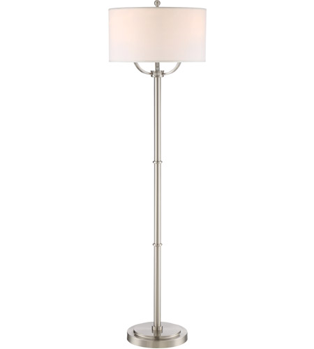 Quoizel VVBY9362BN Vivid Broadway 62 inch 75 watt Brushed Nickel Floor Lamp Portable Light photo thumbnail
