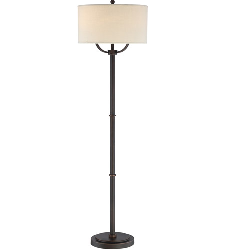Quoizel VVBY9362OI Vivid Broadway 62 inch 75 watt Oil Rubbed Bronze Floor Lamp Portable Light photo