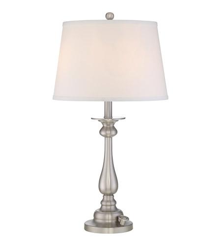 vivid kingsley 28 inch brushed nickel table lamp portable. Black Bedroom Furniture Sets. Home Design Ideas