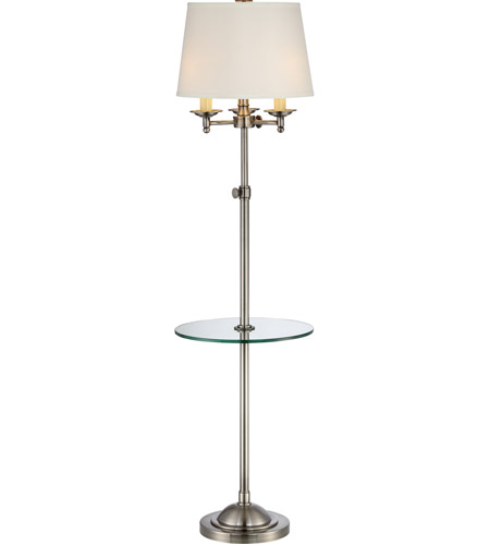 Millington 59 inch 150 watt polished antique nickel floor for 3 way 150 watt floor lamp