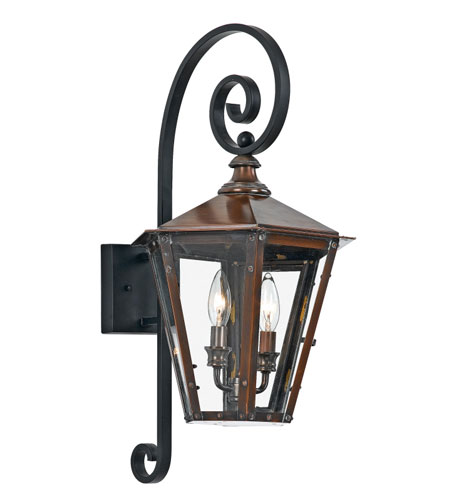 Quoizel Wickliffe Outdoor Wall Mount 2 Light in Aged Copper WC8413AC photo