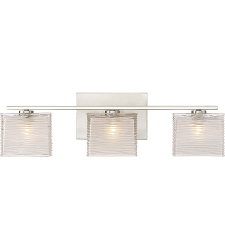 Westcap 3 Light 23 Inch Brushed Nickel Bath Wall Large
