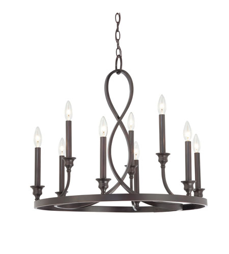 Quoizel Lighting Whitfield 9 Light Chandelier in Dark Cherry WF5009DC photo