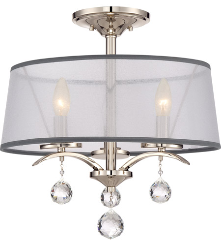 Quoizel whi1716is whitney 3 light 16 inch imperial silver semi flush quoizel whi1716is whitney 3 light 16 inch imperial silver semi flush mount ceiling light mozeypictures Images