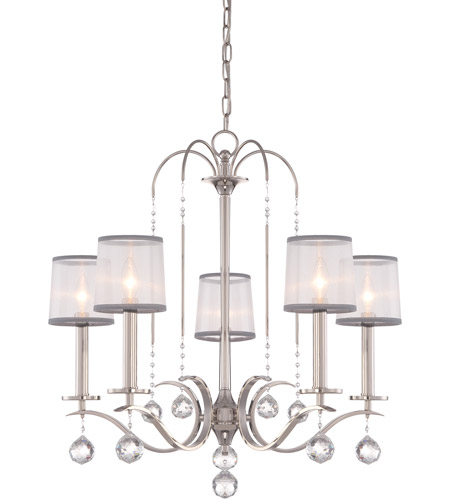 Quoizel WHI5005IS Whitney 5 Light 28 inch Imperial Silver Chandelier Ceiling Light photo
