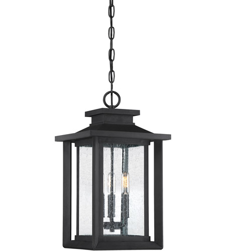 Outside Lights No Earth: Quoizel WKF1911EK Wakefield 3 Light 11 Inch Earth Black