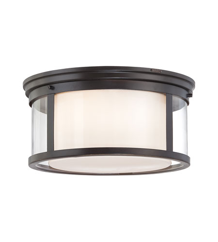Quoizel WLS1615PN Wilson 3 Light 15 inch Palladian Bronze Flush Mount Ceiling Light photo