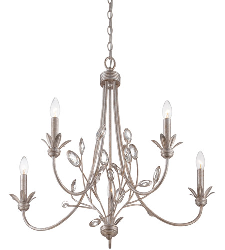 Quoizel WSY5005IF Wesley 5 Light 26 inch Italian Fresco Chandelier Ceiling Light photo